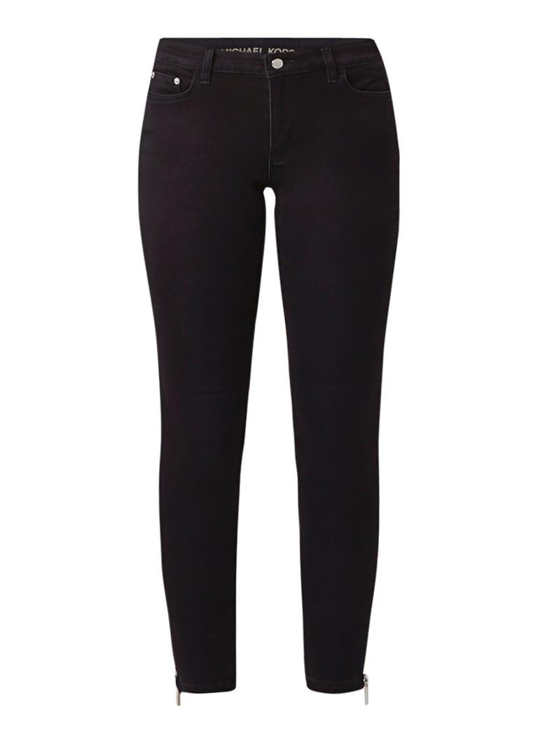 Image of Michael Kors Ankle Zip low rise cropped skinny jeans met ritsdetail