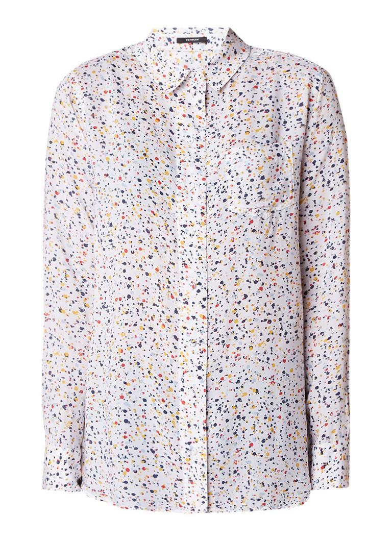 Denham Adventure gemeleerde blouse met borstzak