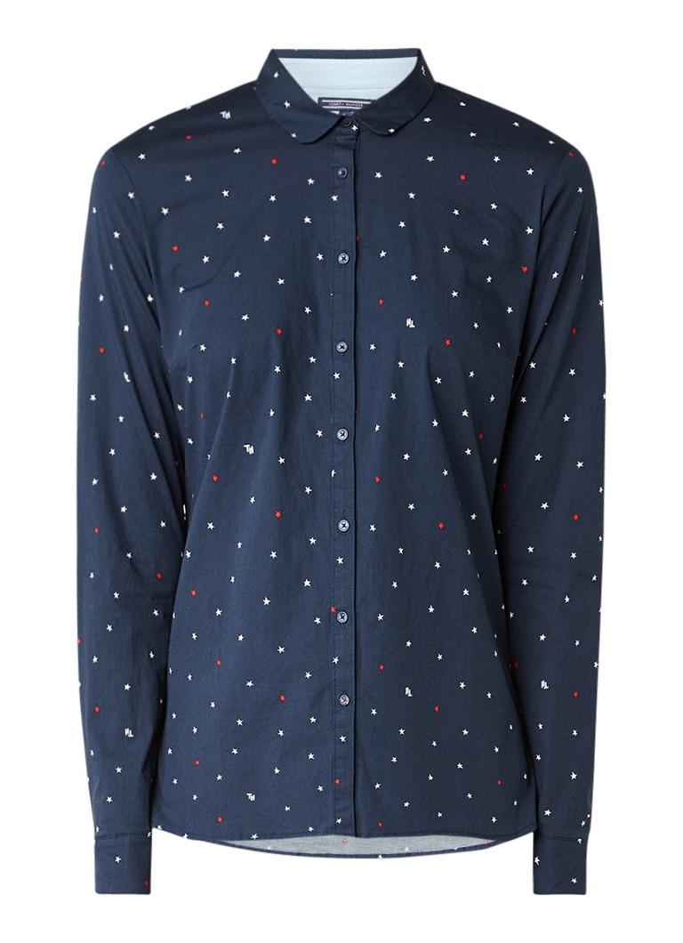 Tommy Hilfiger Slim fit blouse van katoen met sterrendessin