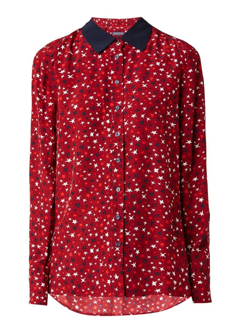 Tommy Hilfiger Josie blouse met sterrendessin