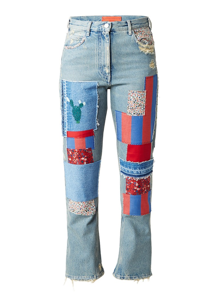 Tommy Hilfiger High rise flared jeans met patches