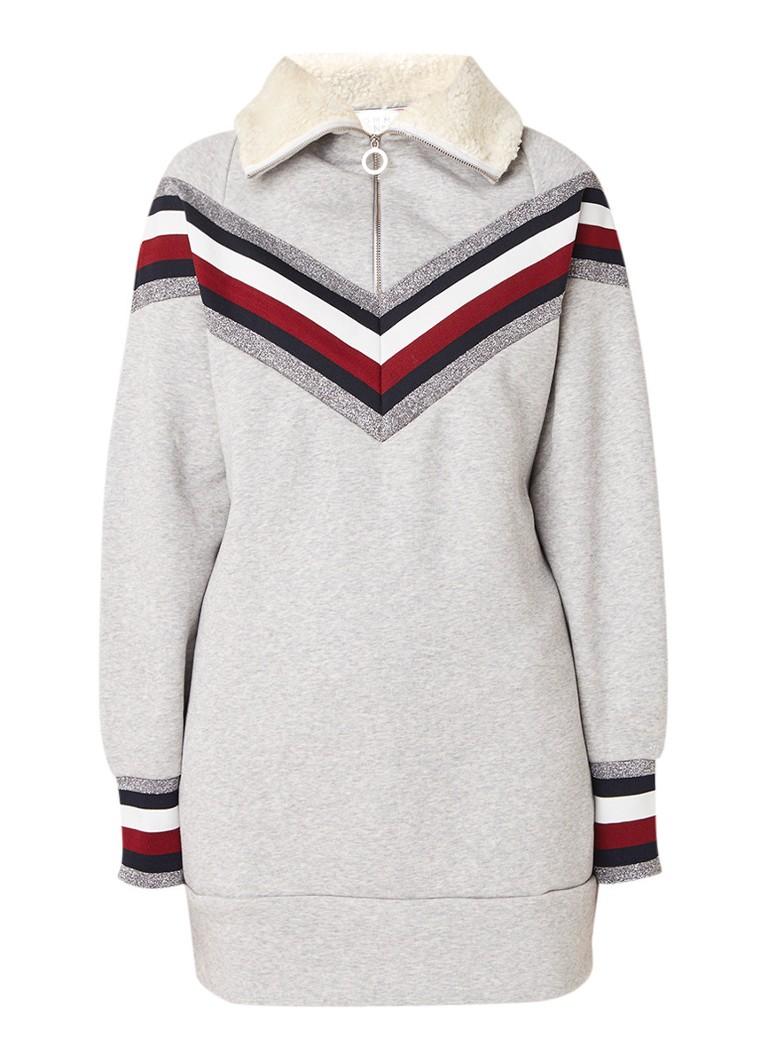 Tommy Hilfiger Icon sweaterjurk met lurex grijsmele