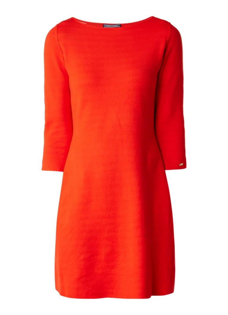 Tommy Hilfiger Balina fijngebreide reversible jurk rood