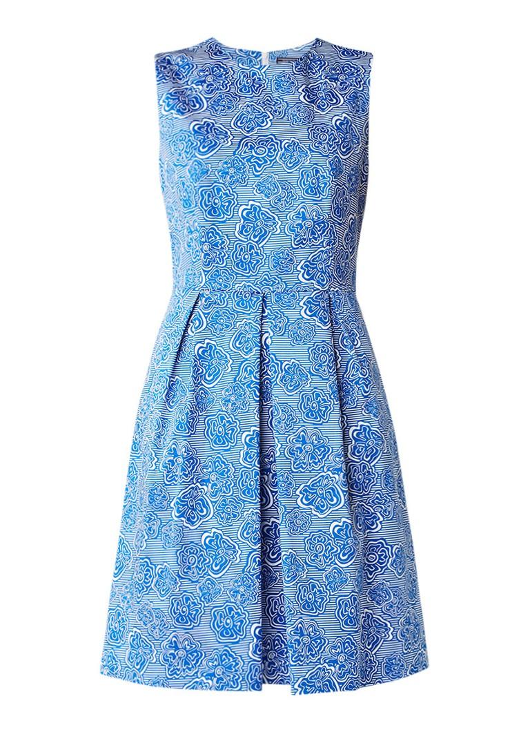 Tommy Hilfiger Toffee A-lijn jurk met bloemendessin blauw