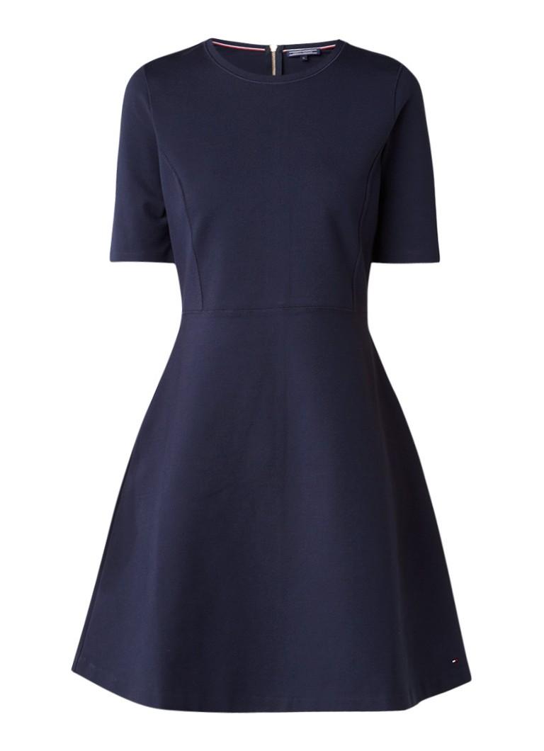 Tommy Hilfiger Raven A-lijn jurk van jersey donkerblauw