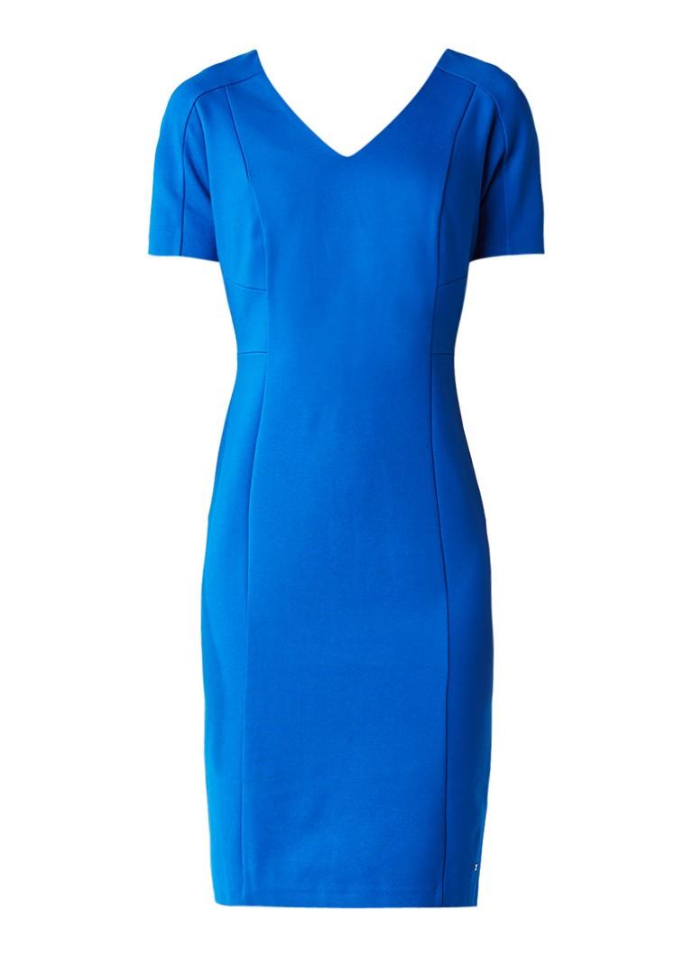 Tommy Hilfiger Imogen midi-jurk met V-hals kobaltblauw