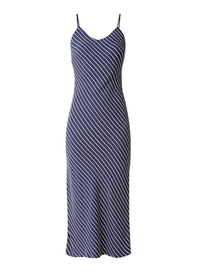 Tommy Hilfiger Nalome mouwloze midi-jurk met streepdessin donkerblauw