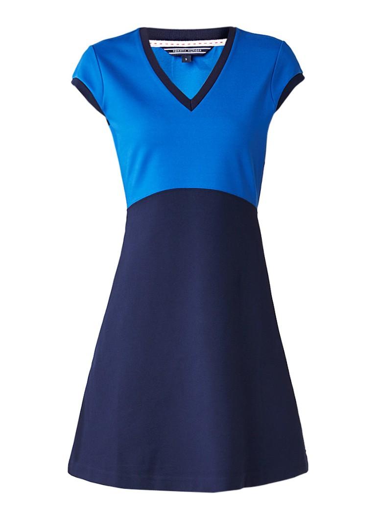 Tommy Hilfiger Rudy A-lijn jurk van jersey donkerblauw