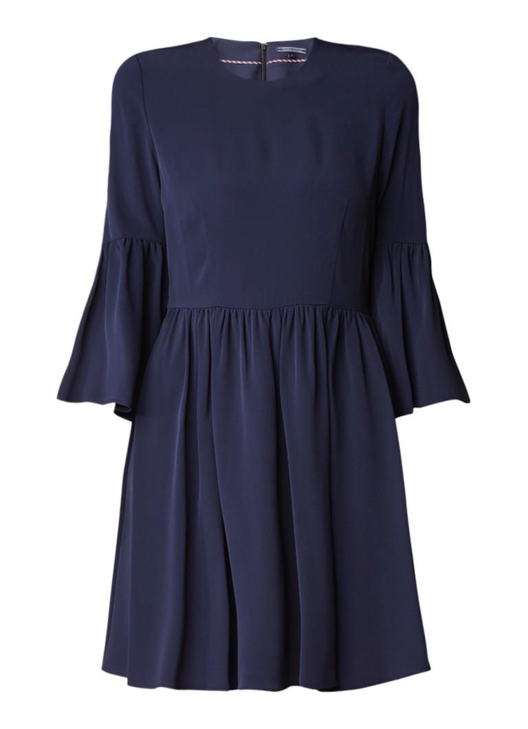Tommy Hilfiger Mia A-lijn jurk met geruchte zoom donkerblauw