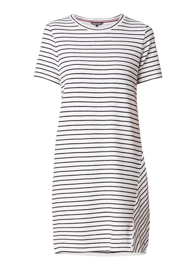 Tommy Hilfiger Brenna T-shirt jurk met ribstructuur zwart