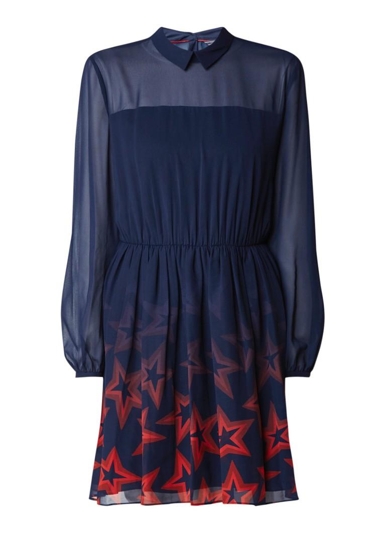 Tommy Hilfiger Nellie jurk met sterrendessin donkerblauw