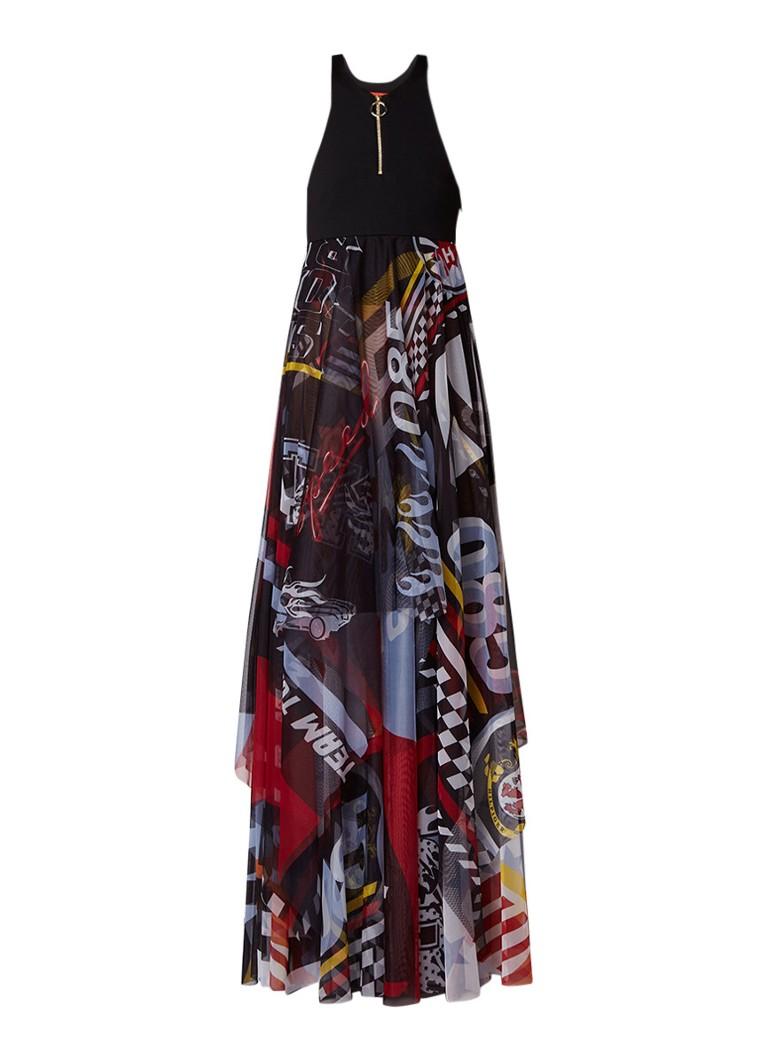Tommy Hilfiger Victory Finale maxi-jurk met grafische print zwart