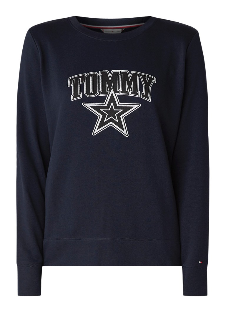 Image of Tommy Hilfiger Haley sweater met logoprint