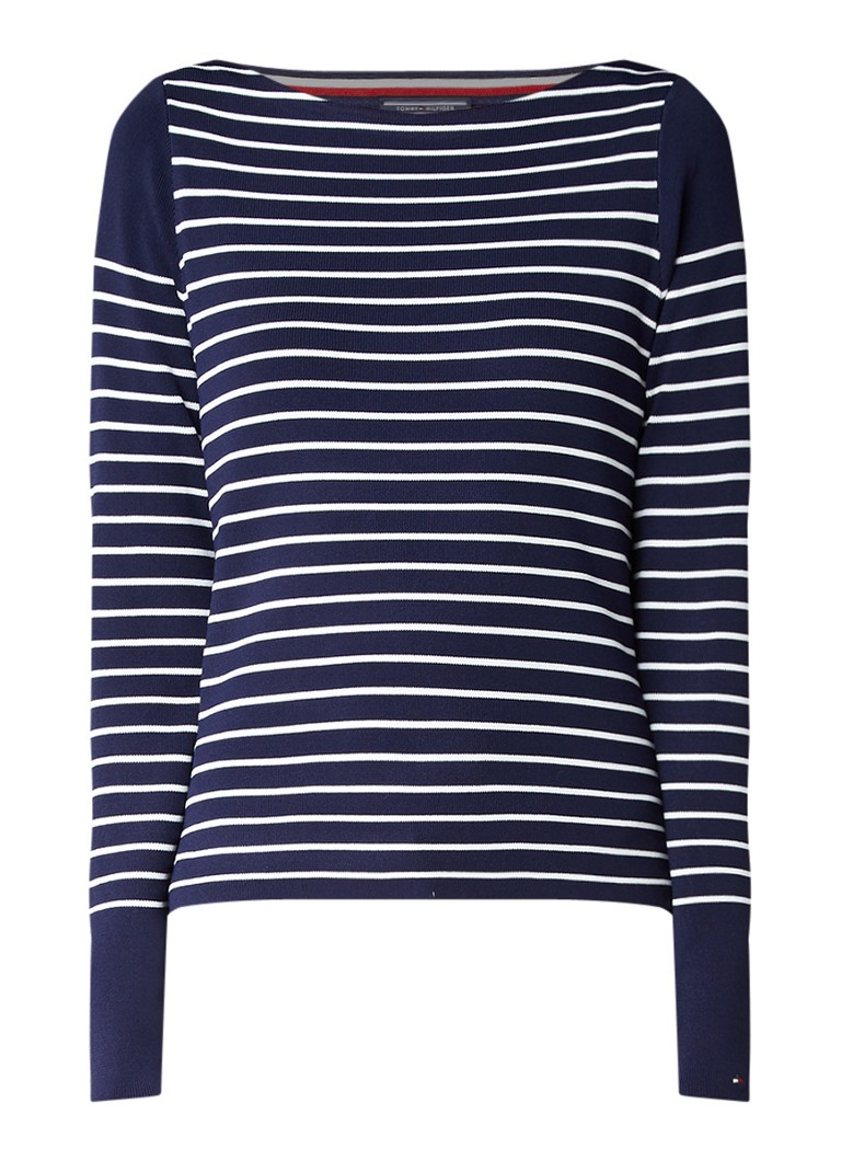 Tommy Hilfiger Gaila gestreepte pullover met boothals