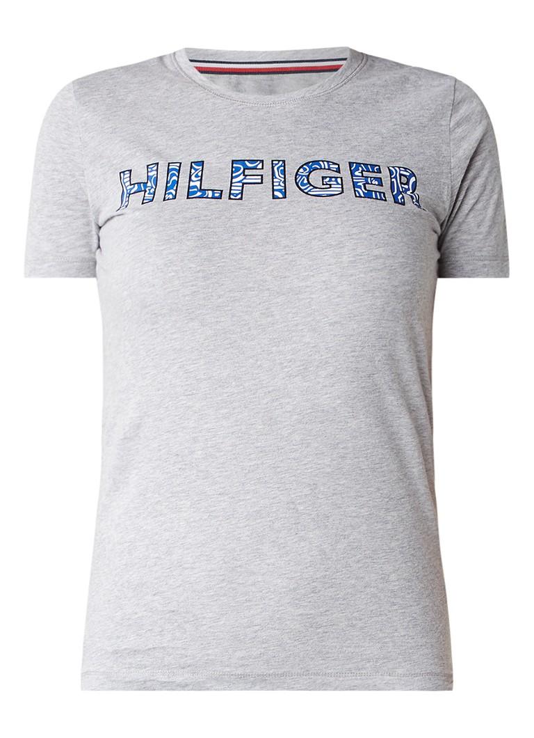 Tommy Hilfiger Gemêleerd T-shirt met logoprint