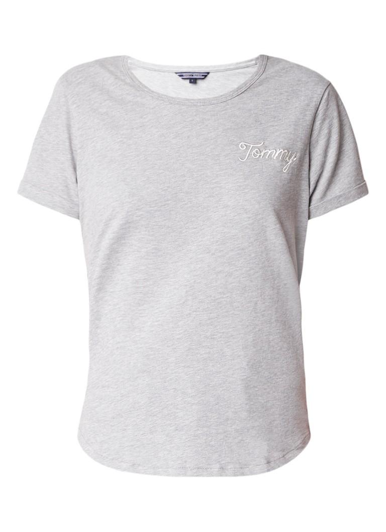 Tommy Hilfiger Denise gemêleerd T-shirt met geborduurd logo