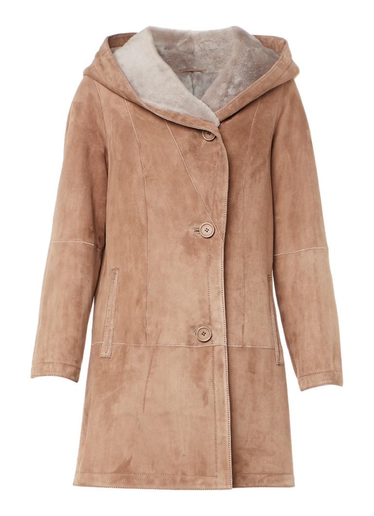 ARMA Babina lammy coat met capuchon