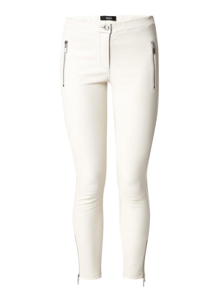 ARMA Cadiz broek van lamsleer met ritsjes