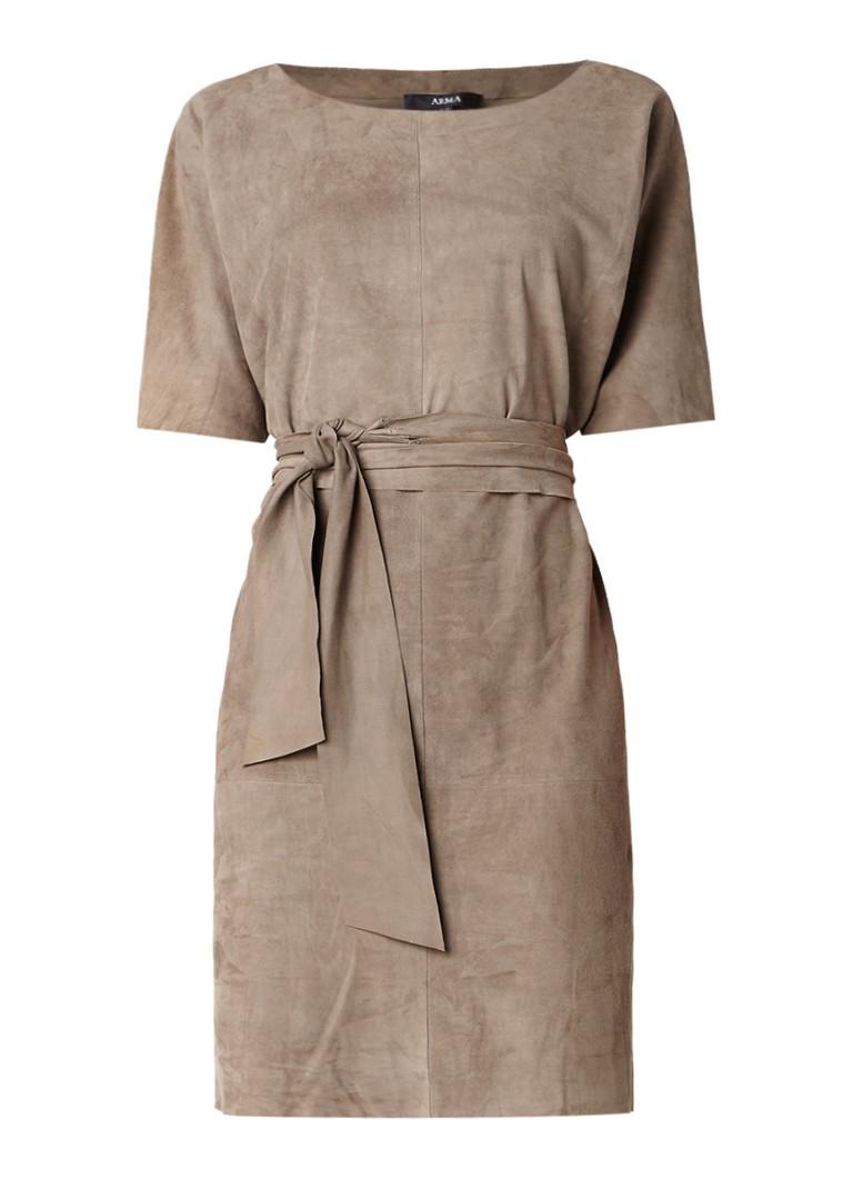 ARMA Mossoro jurk van suède met