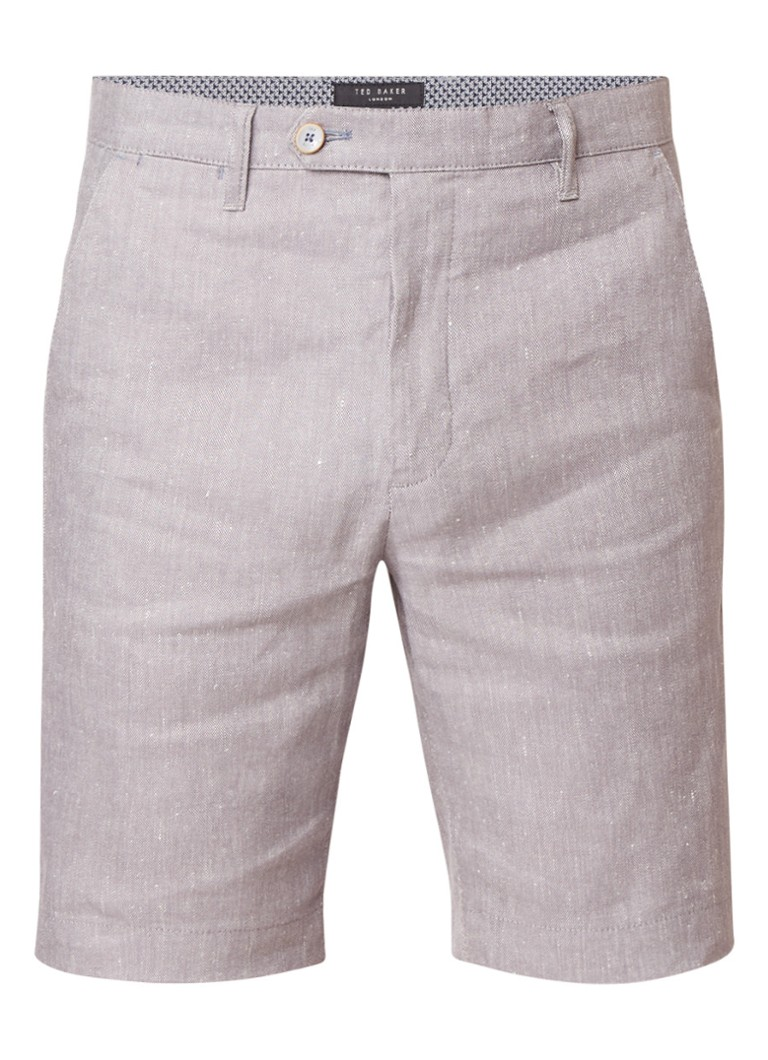 Ted Baker Newshos Oxford shorts in linnenblend