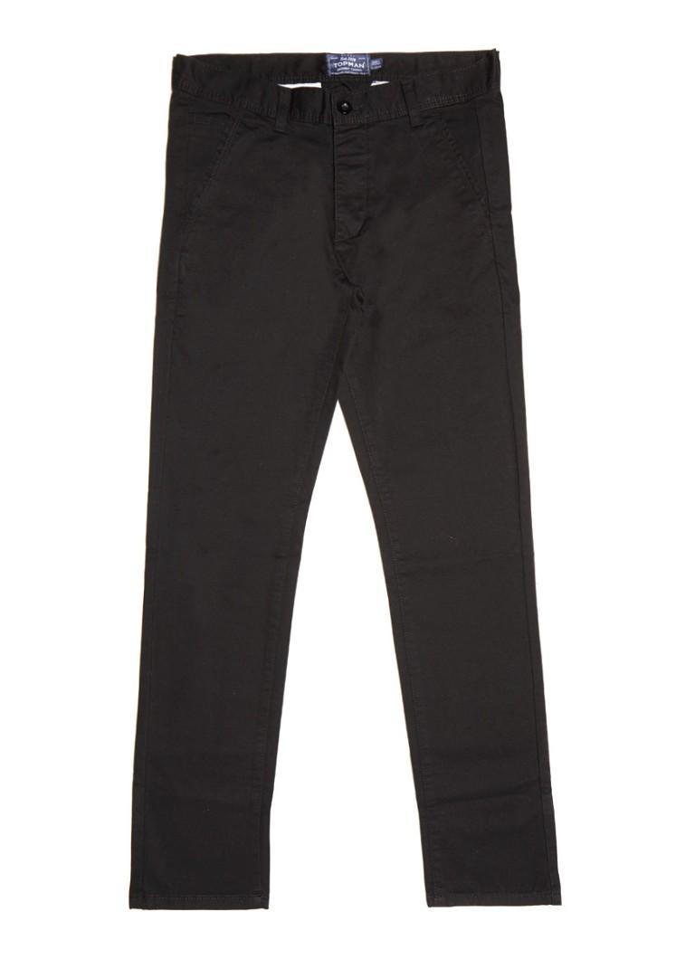 TOPMAN Zwarte skinny 5-pocket chino