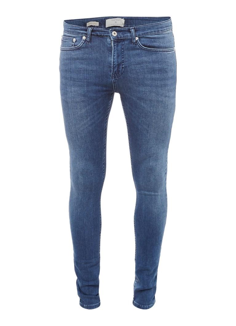 TOPMAN Sanchez super spray skinny fit jeans met faded details