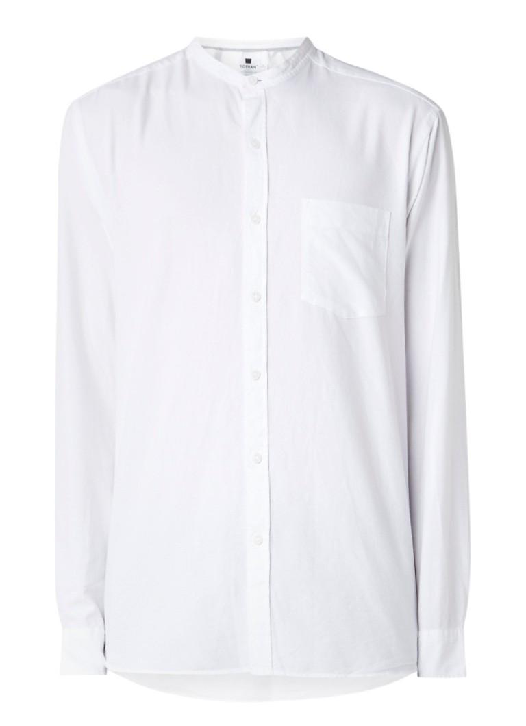 TOPMAN Slim fit Oxford-overhemd met borstzak