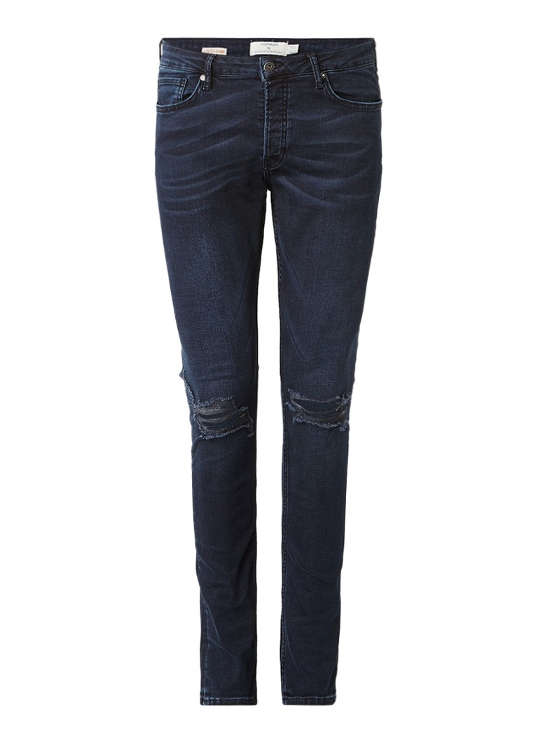 TOPMAN Renee stretch skinny jeans met ripped pijp