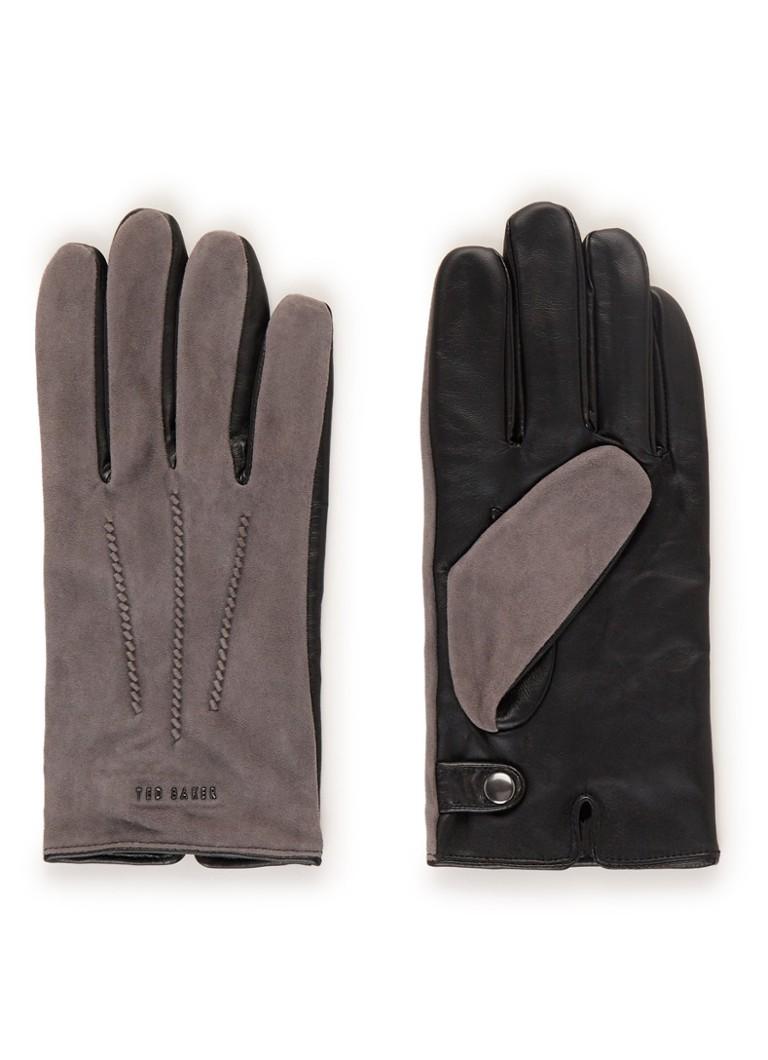 Ted Baker Priced handschoenen van suède en leer