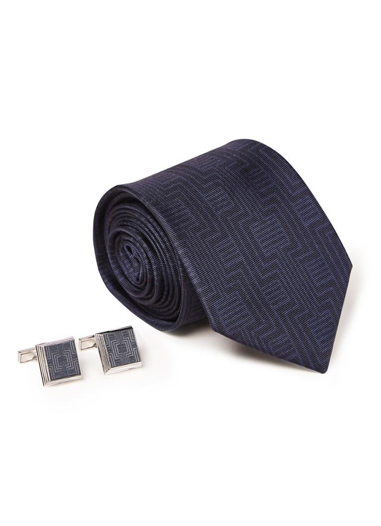 Ted Baker Trippy giftset met manchetknopen en stropdas