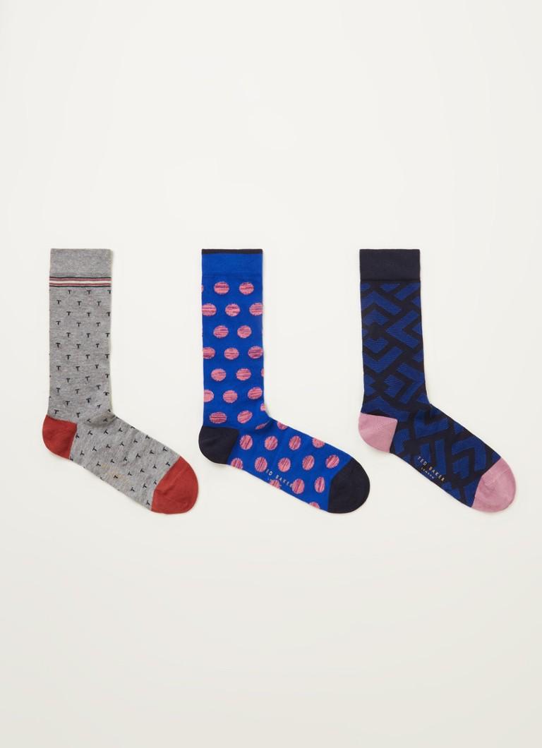 Ted Baker Sockth sokken met print in -pack