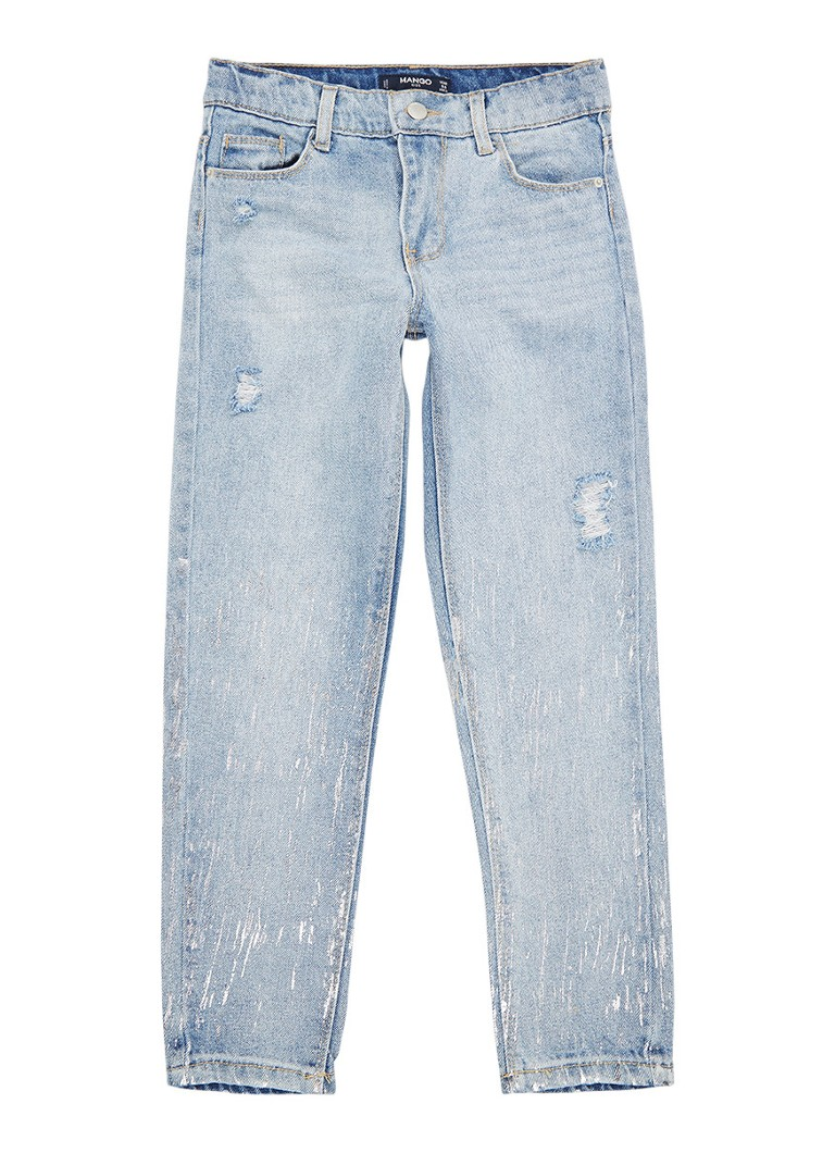 MANGO Bright boyfriend jeans met destroyed detail en metalli