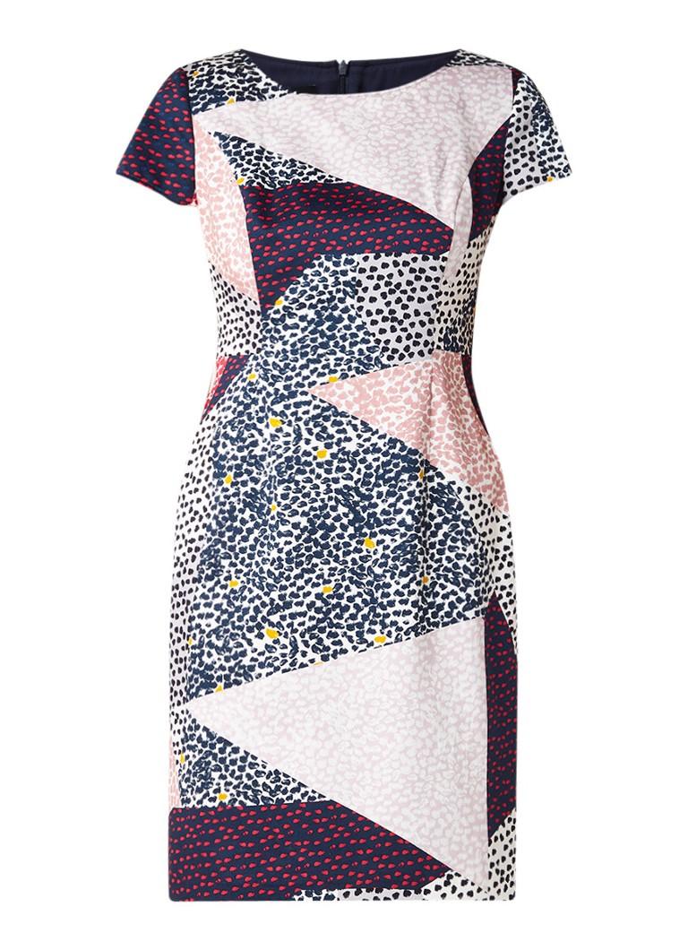 Taifun Mini-jurk van katoen met gestipt dessin multicolor
