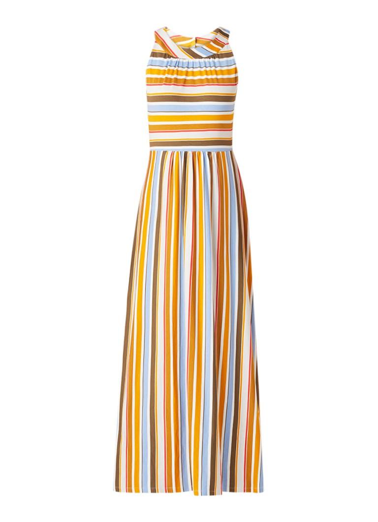 Taifun Maxi-jurk met streepdessin okergeel