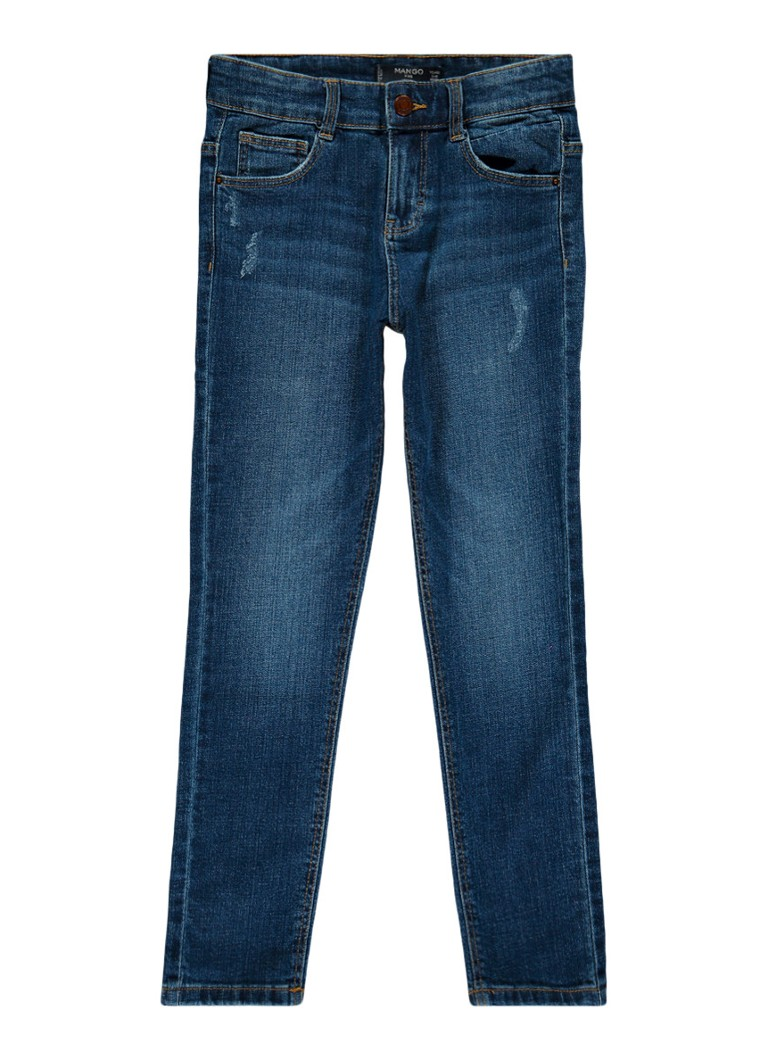 MANGO Johno slim fit jeans met ripped detail