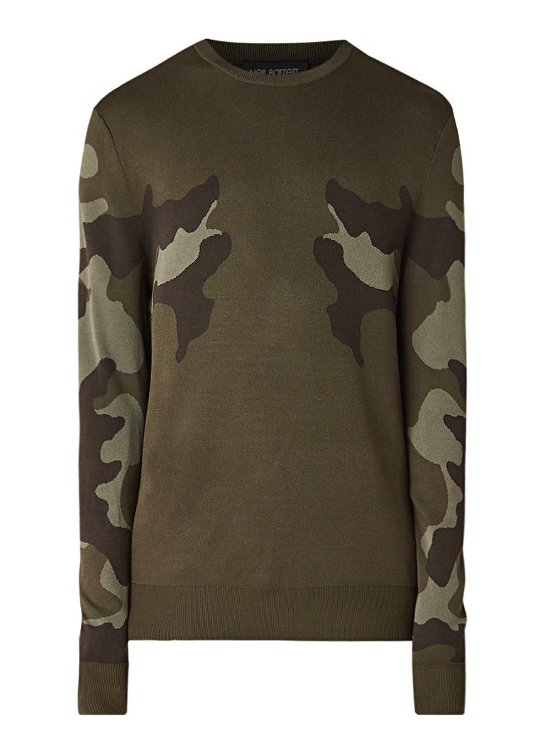 Neil Barrett Camo fijngebreide pullover met dessin