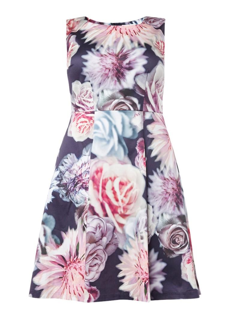 Studio 8 Nicolena A-lijn jurk met bloemendessin paars