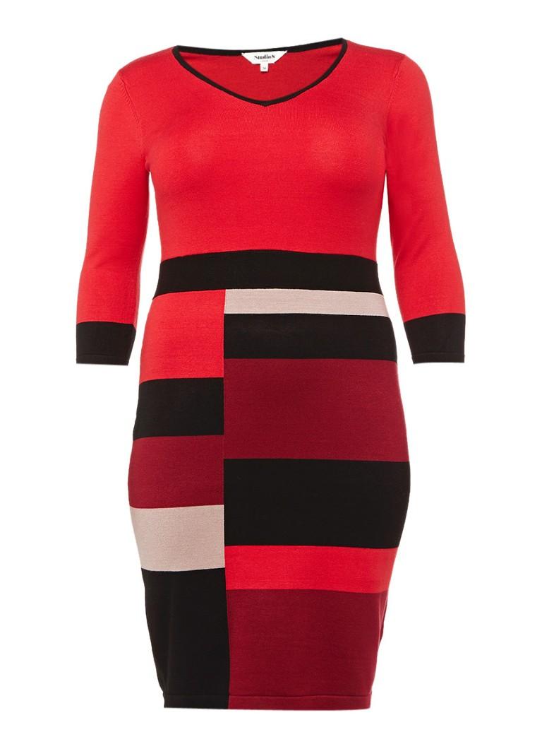 Studio 8 Carolyn jurk van jersey met colour blocking rood