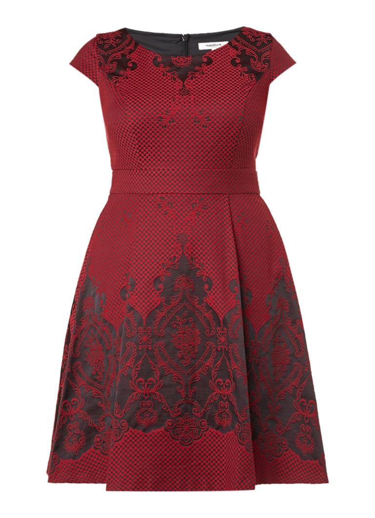 Studio 8 Annalise jurk met barok print rood