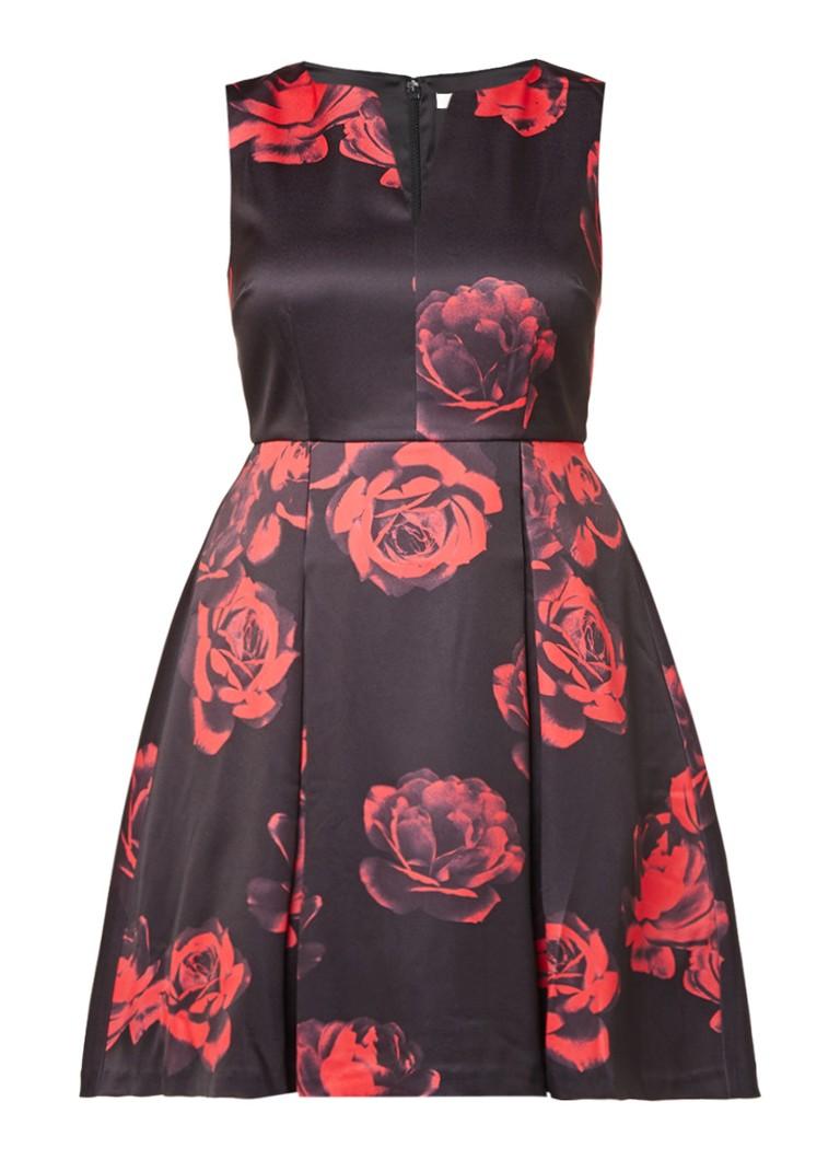 Studio 8 Rosetta jurk met bloemendessin zwart