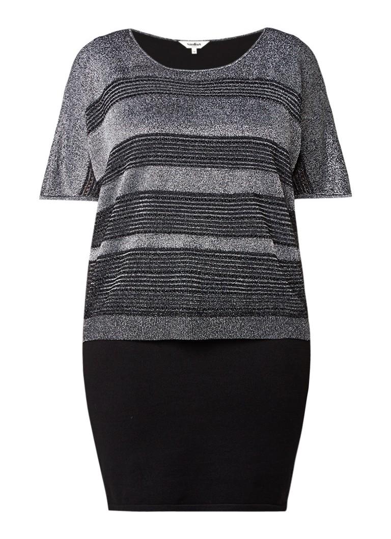 Studio 8 Riley jurk met overlay zwart