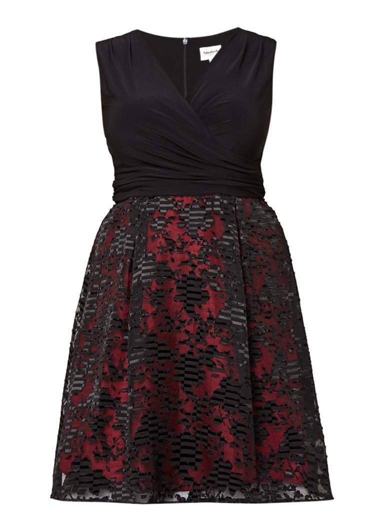 Studio 8 Josephine jurk met semi-transparante overlay zwart