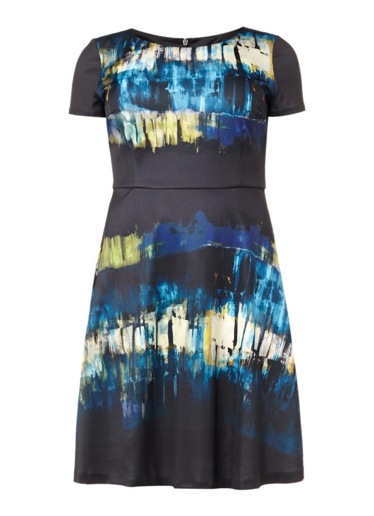 Studio 8 Cameron A-lijn jurk met abstract dessin zwart