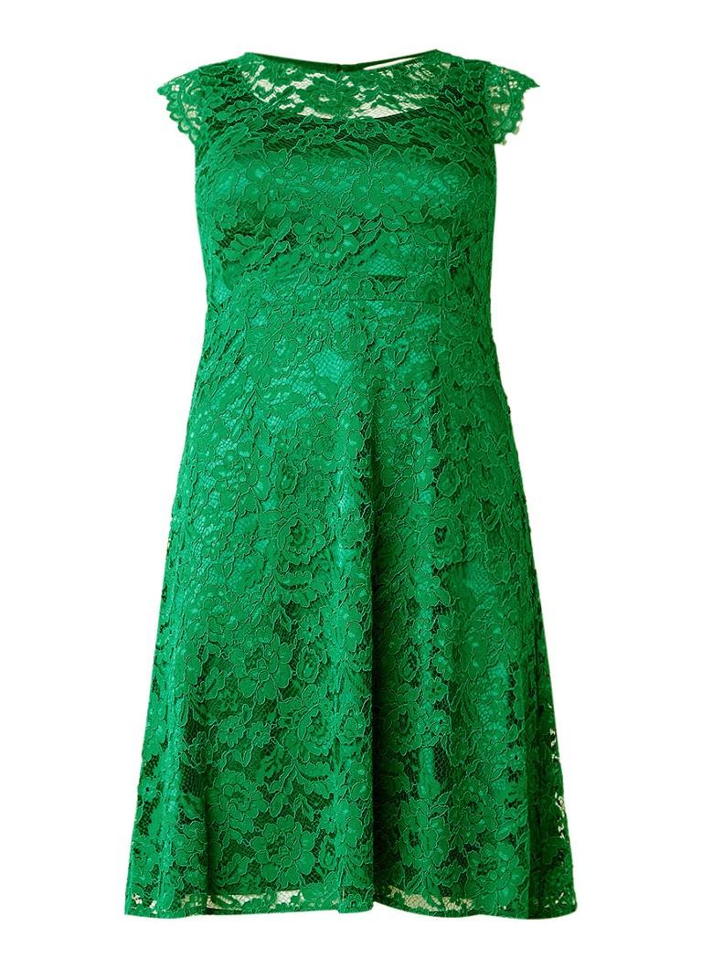 Studio 8 Allegra A-lijn jurk van kant flessengroen