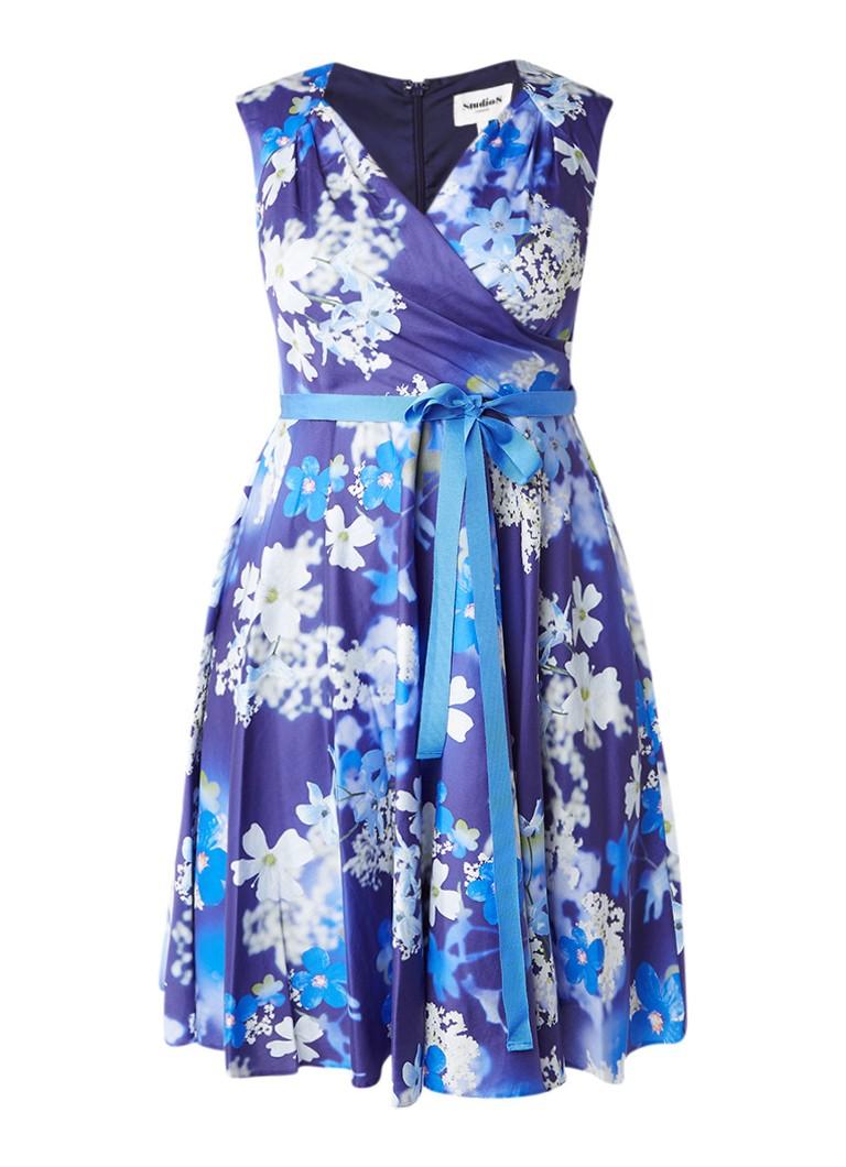 Studio 8 Charlene A-lijn jurk met bloemendessin lavendel