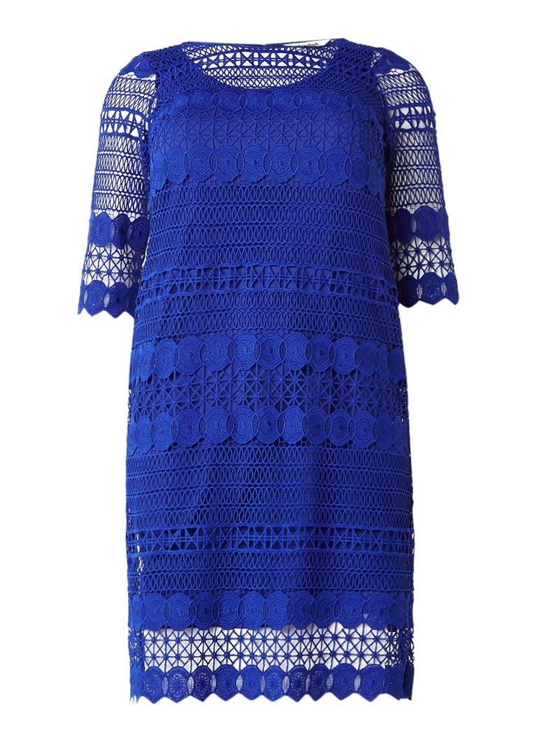 Studio 8 Cynthia jurk met gehaakte overlay kobaltblauw