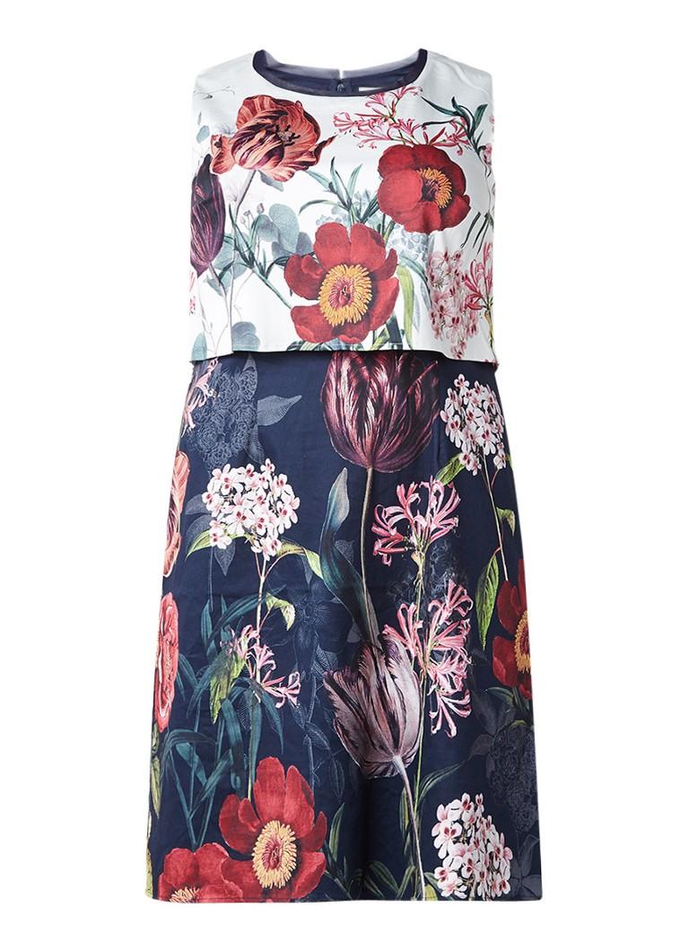 Studio 8 Sammie jurk met bloemendessin donkerblauw