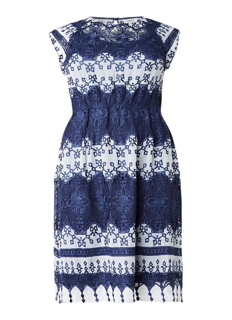 Studio 8 Ellis A-lijn jurk van kant donkerblauw