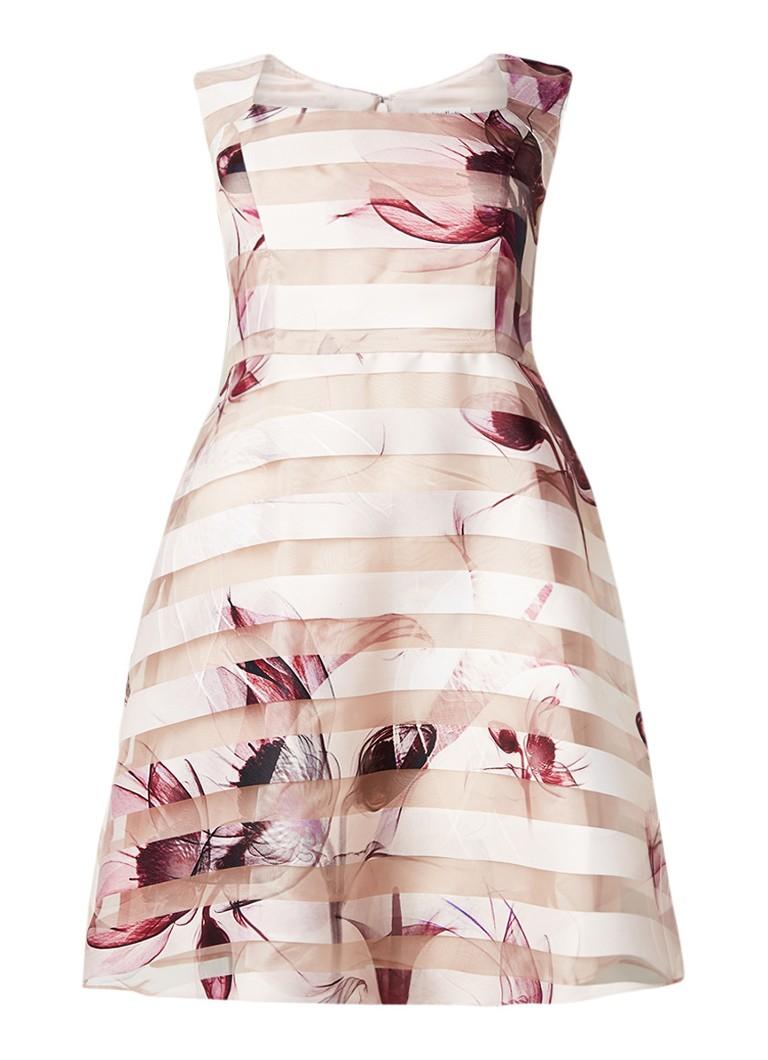 Studio 8 Megan A-lijn jurk met semi-transparante overlay lichtroze