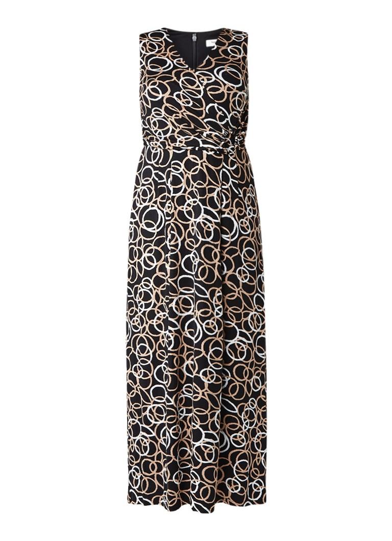 Studio 8 Elenora maxi-jurk met dessin zwart